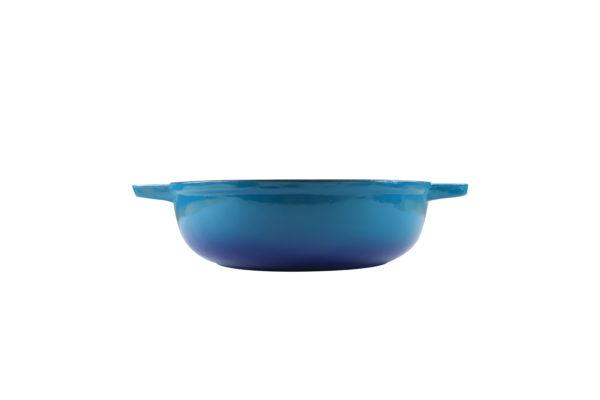 Chef Round Casserole Blue Dish_5