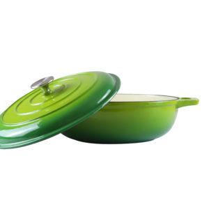 Chef Round Casserole Green Dish_2