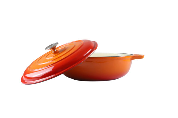 Chef Round Casserole Orange Dish_2